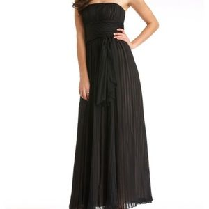 Cole Haan Gown with Tulle Overlay and Self Belt
